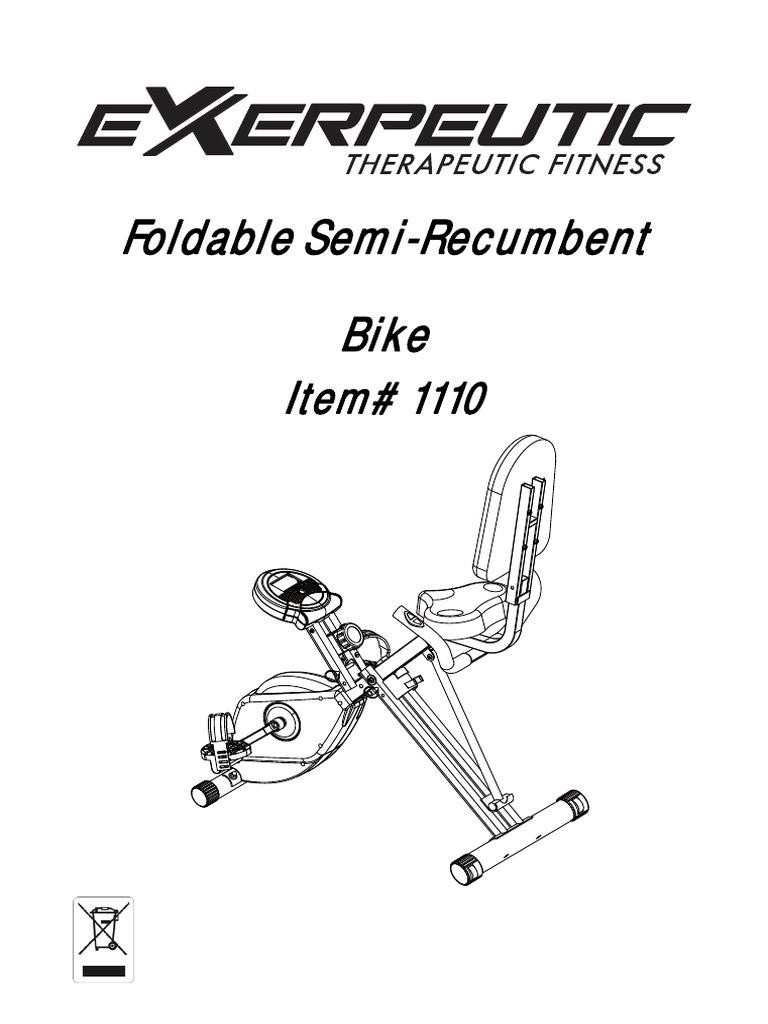 Foldable Semi-Recumbent Bike: Item# 1110