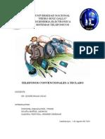 Sistemas Telefonicos - Telefonos Con Teclado