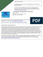 Electrostatic Percipitation of Fly Ash