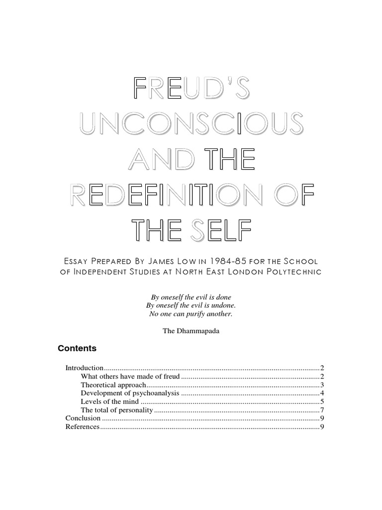 the unconscious essay freud The unconscious essays: over 180,000 the unconscious essays, the unconscious term papers, the unconscious research paper, book reports 184.