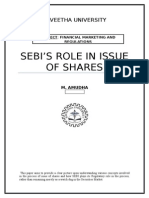 Role of Sebi in Issue of Shares - Assignment