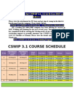 Schedule for CSWIP