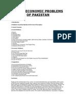 Socio Eco Problems of Pak