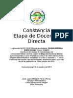 Constancia de Etapa de Docencia Directa.