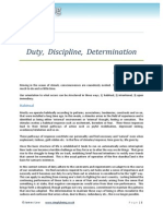 Duty, Discipline and Determination. Article, 2011