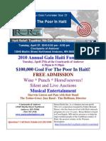 $100,000 Goal For Haiti Gala Fundraiser April 27 2010