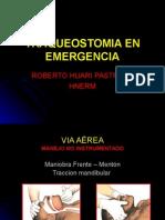Traqueostomia en Emergencia