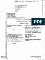 Veoh Networks, Inc. v. UMG Recordings, Inc. et al - Document No. 13