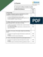 2  portfolio checklist