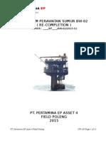 Pertamina EP Asset 4 Poleng BW-021 WO Program