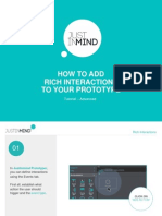 Justinmind Tutorial - How to add rich interactions