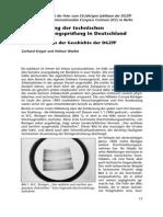 Die Entwiclung der Technischen Durchstrahlungsprüfung in Deutschland