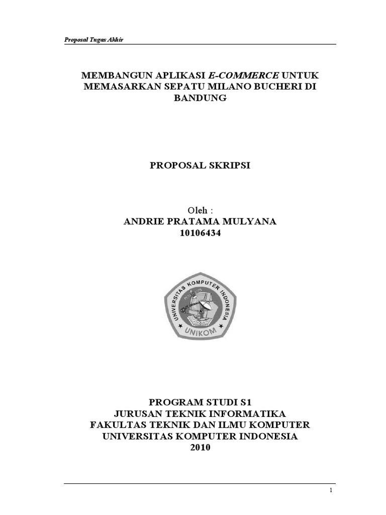 Proposal Skripsi Teknik Informatika Pdf
