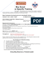 Boy Scout Leader Specific Training