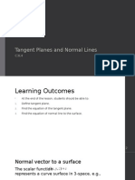 C3L4 Tangent Planes and Normal Lines