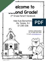 second grade handbook 2015 final