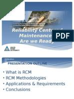 Reliability Centered Maintenance