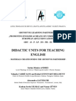 Didactic units for teaching English (title of the book)
