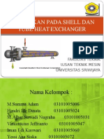 Kebocoran Pada Heat Shell and Tube Heat Exchanger