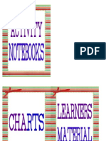 Small Books, Activity Notebook, Charts 2
