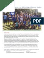 Residence Life at TIP 2015