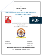 harish kumar shree cement report.doc