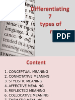7 Types of Meaning - Semantics