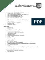 Lista de Materiales Amarilla 2010