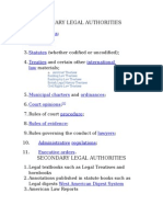 Primary Legal Authorities
