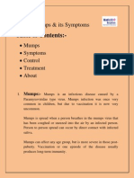 Mumps & Its Symptoms