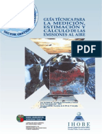 Guía Técnica Para La Medición, Estimación y Cálculo de Emisiones Al Aire