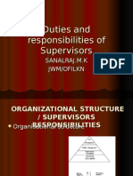 Duties and Responsibilities of Supervisor