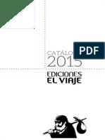 Catálogo Ediciones el viaje agosto 2015
