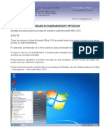 Procedura Activare Microsoft Office 2010