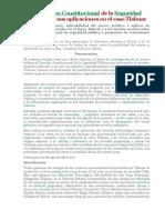 El Derecho Constitucional de La Seguridad Pública y Sus Aplicaciones en El Caso Tlahuac