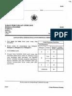 Percubaan UPSR 2015 - Pahang - BI Kertas 2