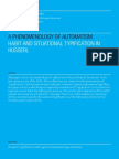 Habit and situational typification in Husserltional Typification in Husserl