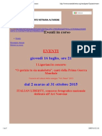 Luglio 2015, 'Eventi in Corso. Italian Liberty', Museo Dell'Arte Vetraria Altarese