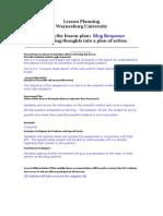 Blog Lesson Plan