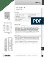 Camden 626S Data Sheet