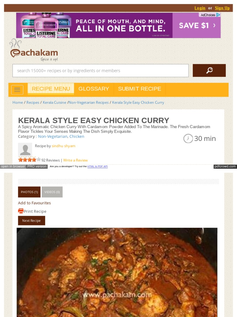 Pachakam com recipes kerala style easy chicken curry 1173 curry pachakam com recipes kerala style easy chicken curry 1173 curry indian cuisine forumfinder Gallery