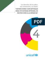 """UNICEF CSP U de Chile  """"Definiciones conceptuales para un sistema integral de protección a la infancia"""""""