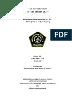 Case Kasus Otitis Media Akut stadium perforasi