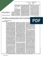 M. Ignatieff - Lettera a Un Ragazzo Che Vuole Fare Politica