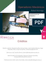 Operadores Mecánicos- Robot Hormiga