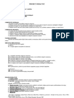 Proiect Didactic - Situatia de Comunicare Monologata Si Dialogata