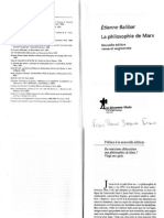 BALIBAR, Etienne. Du Marxisme Althussérien Aux Philosophies de Marx - Vingt Ans Après