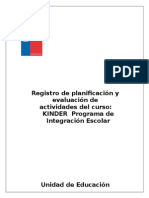 Registro Pie Kinder