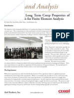 Measuring the Long Term Creep Properties of Plastics Materials