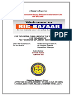 Consumer Behavior of Retail Sector (Big Bazar, Future Group)